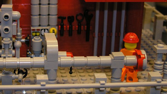 LEGO man on oil rig