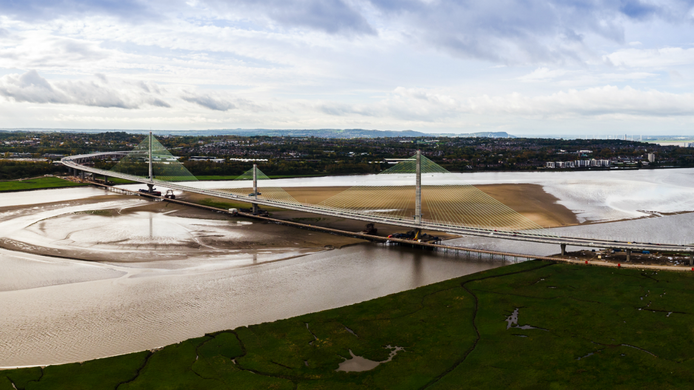 The Mersey Gateway completed. Image courtesy of Merseylink